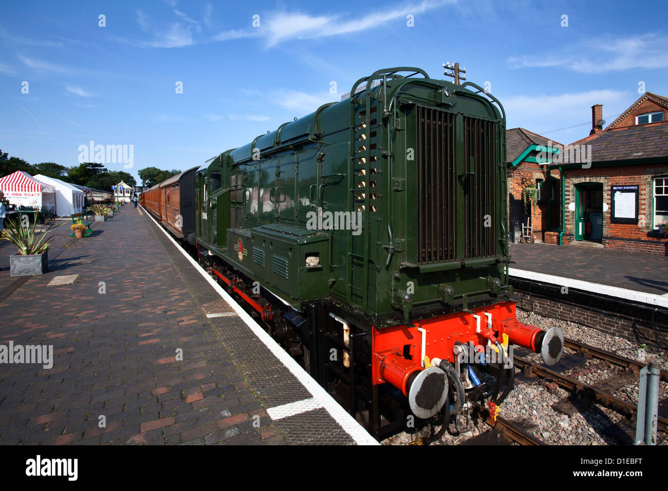 Locomotive classe 08 D3940 sur la ligne de pavot, North Norfolk, Fer à Sheringham, Norfolk, Angleterre, Royaume Photo Stock