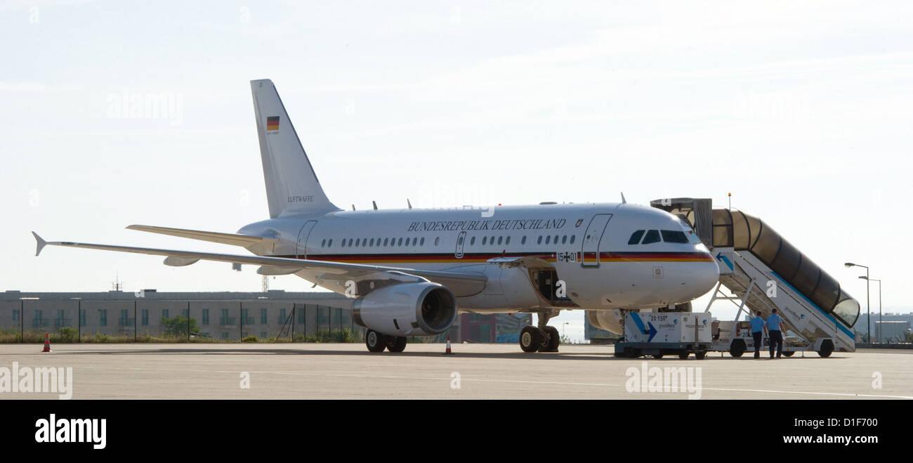 (Dossier) une archive photo datée du 30 mai 2012 montre un Airbus de la Force aérienne de l'Allemagne Photo Stock