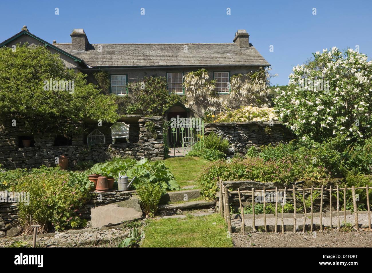 Colline, Sawrey, la maison de Beatrix Potter, célèbre auteur de livres pour enfants, Parc National de Photo Stock