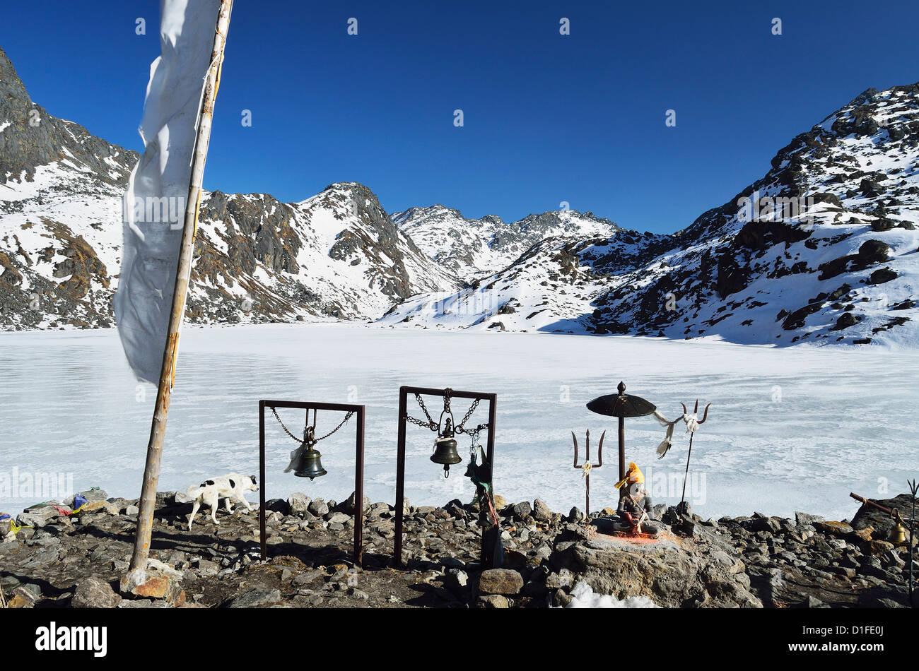 Les lacs Gosainkund, Langtang National Park, Bagmati, région centrale (Madhyamanchal), Népal, Himalaya, Photo Stock