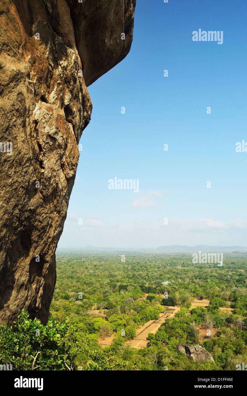 Avis de plaines de Sigiriya (le Rocher du Lion), UNESCO World Heritage Site, Sri Lanka, Asie Photo Stock