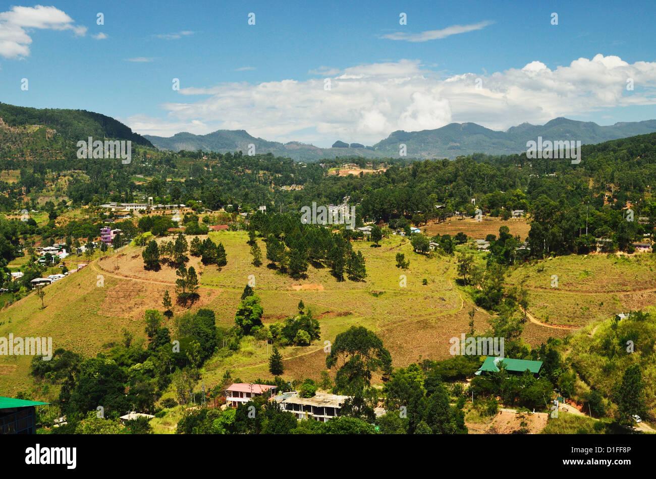 Hautes terres centrales, au Sri Lanka, en Asie Photo Stock