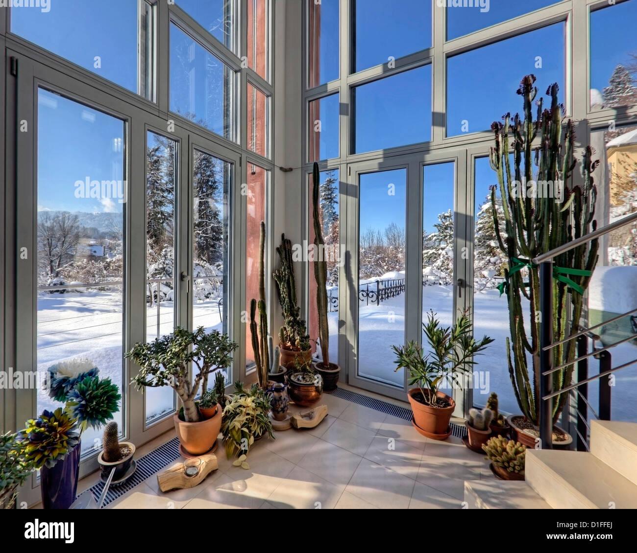 DE - La Bavière: le Winter-Garden (Architecture contemporaine, Bad Toelz) Photo Stock