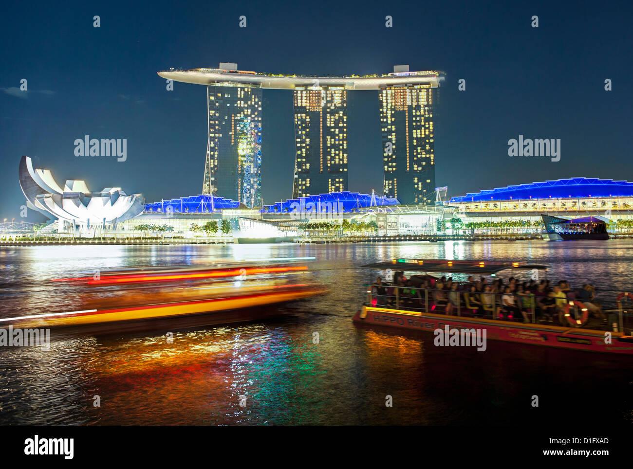 Marina Bay Sands, Marina Bay, à Singapour, en Asie du Sud-Est, l'Asie Photo Stock