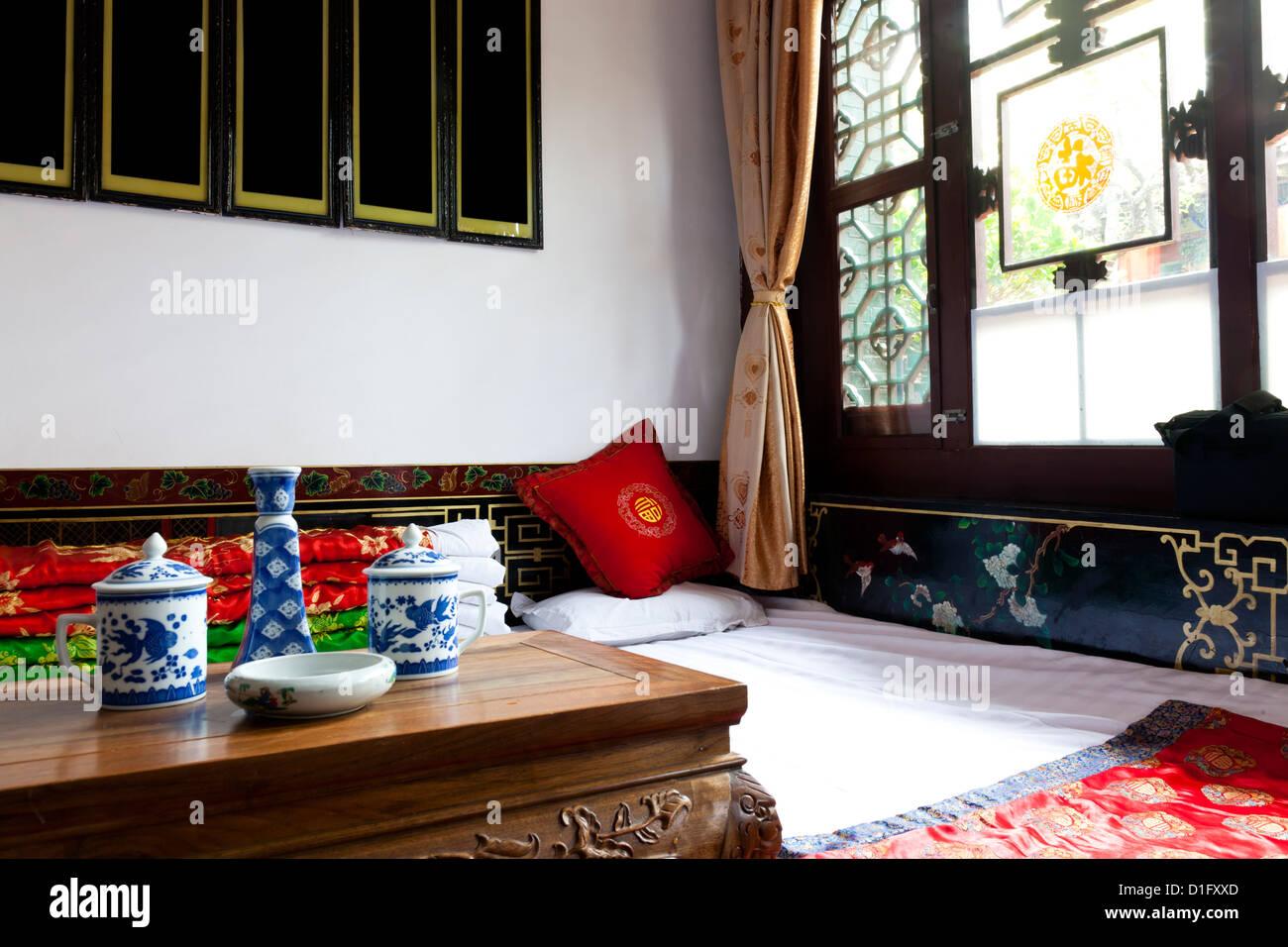 Chambre traditionnelle chinoise, généralement dans la campagne