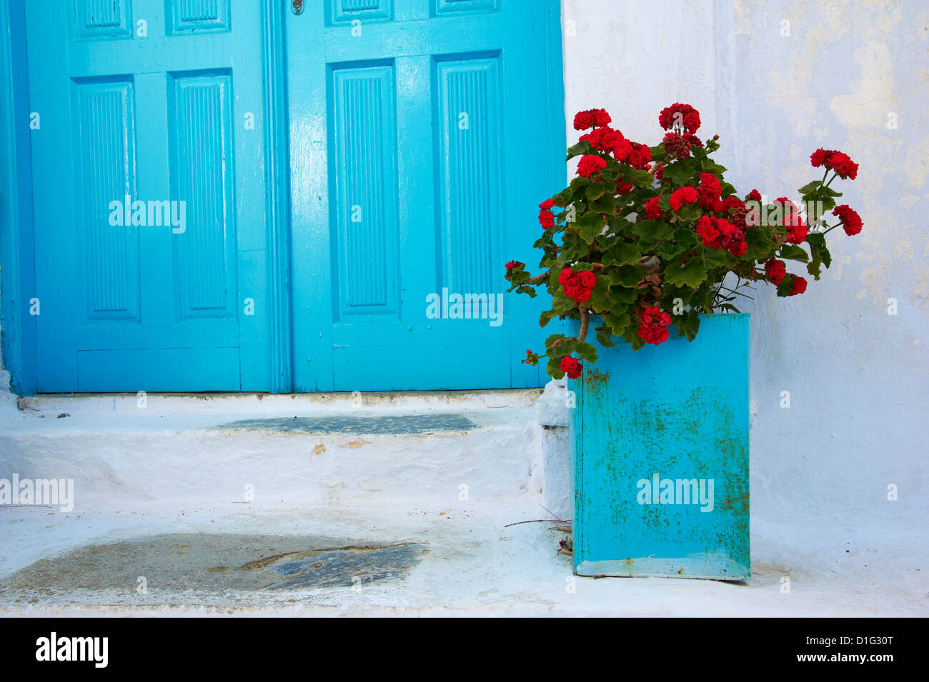 Chora, Amorgos, Cyclades, Mer Égée, îles grecques, Grèce, Europe Photo Stock