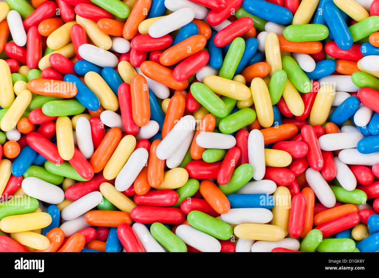 L'un des pick and mix candy cale au le marché du dimanche matin, Pollenca, Tramuntana, Majorque, Îles Photo Stock