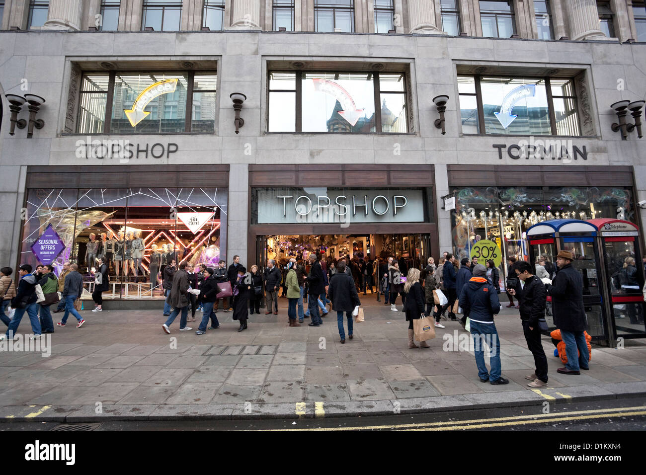 Magasin Topshop d'Oxford Circus, Oxford Street,