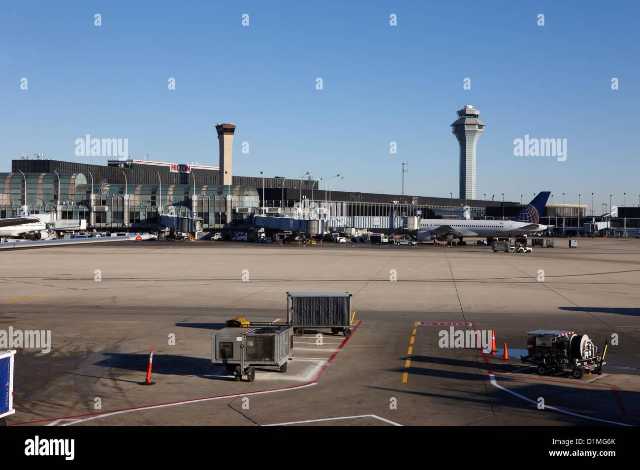 L'aéroport international O'Hare Chicago Illinois USA Photo Stock