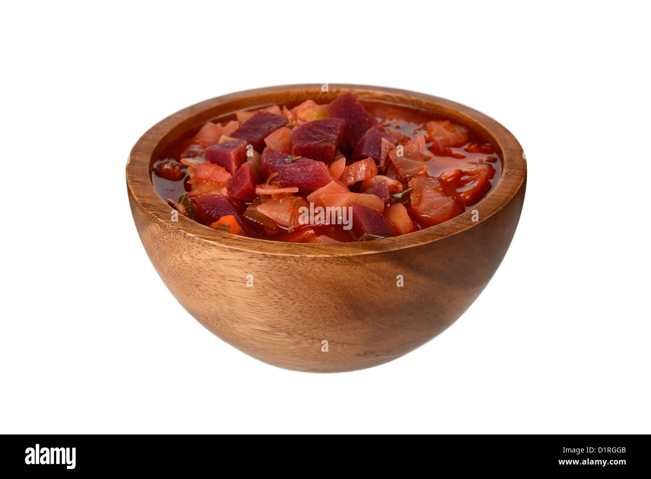 Bortsch, soupe de betteraves traditionnelle russe, ragoût Photo Stock