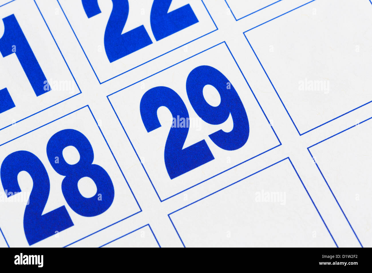 Calendrier Annee Bissextile.Bissextile Photos Bissextile Images Alamy