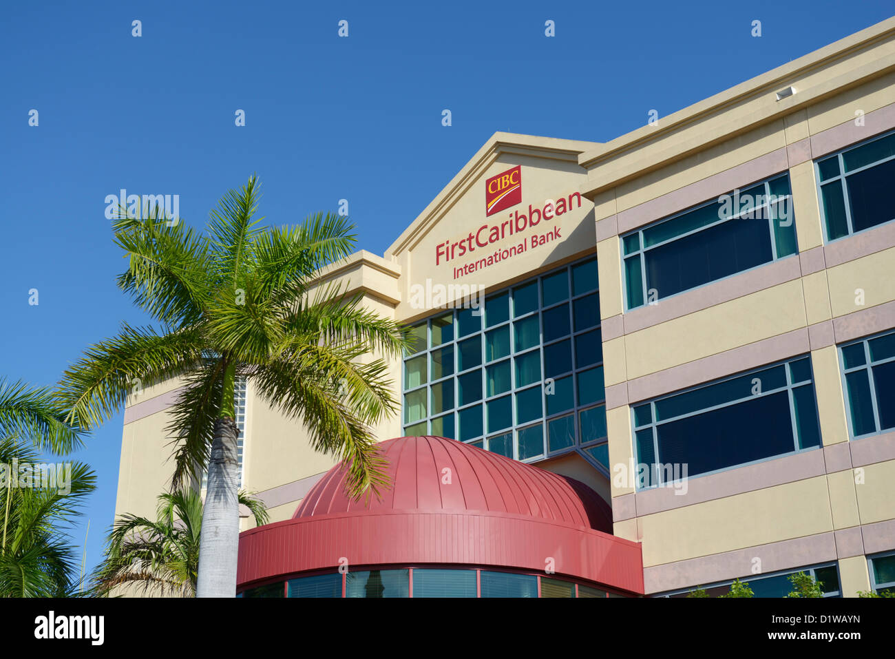Cayman Island Bank - Première Caribbean International, Georgetown, Grand Cayman Photo Stock