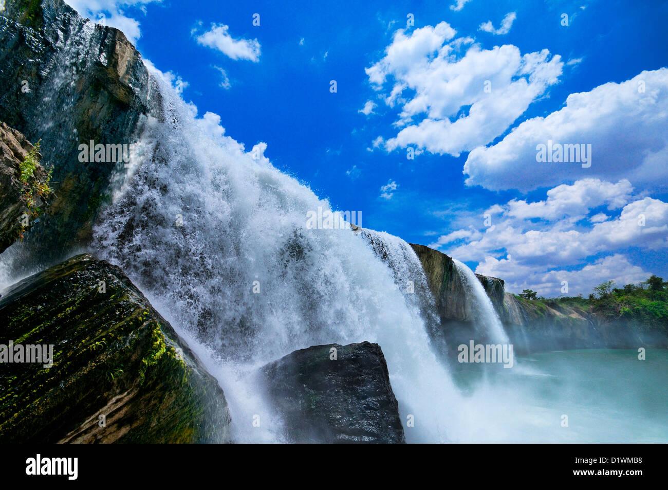 Dray Sap Cascade, hauts plateaux du centre. Buon Ma Thuot, Dak Lak, Vietnam Photo Stock
