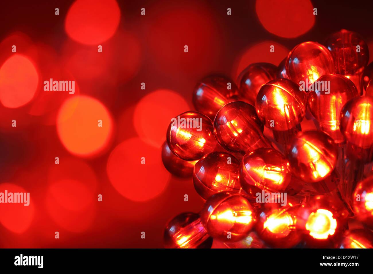 Les lumières de Noël Photo Stock