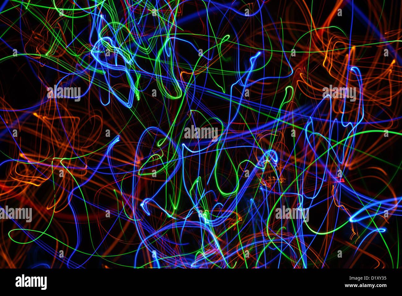 Sentiers de lumière Photo Stock