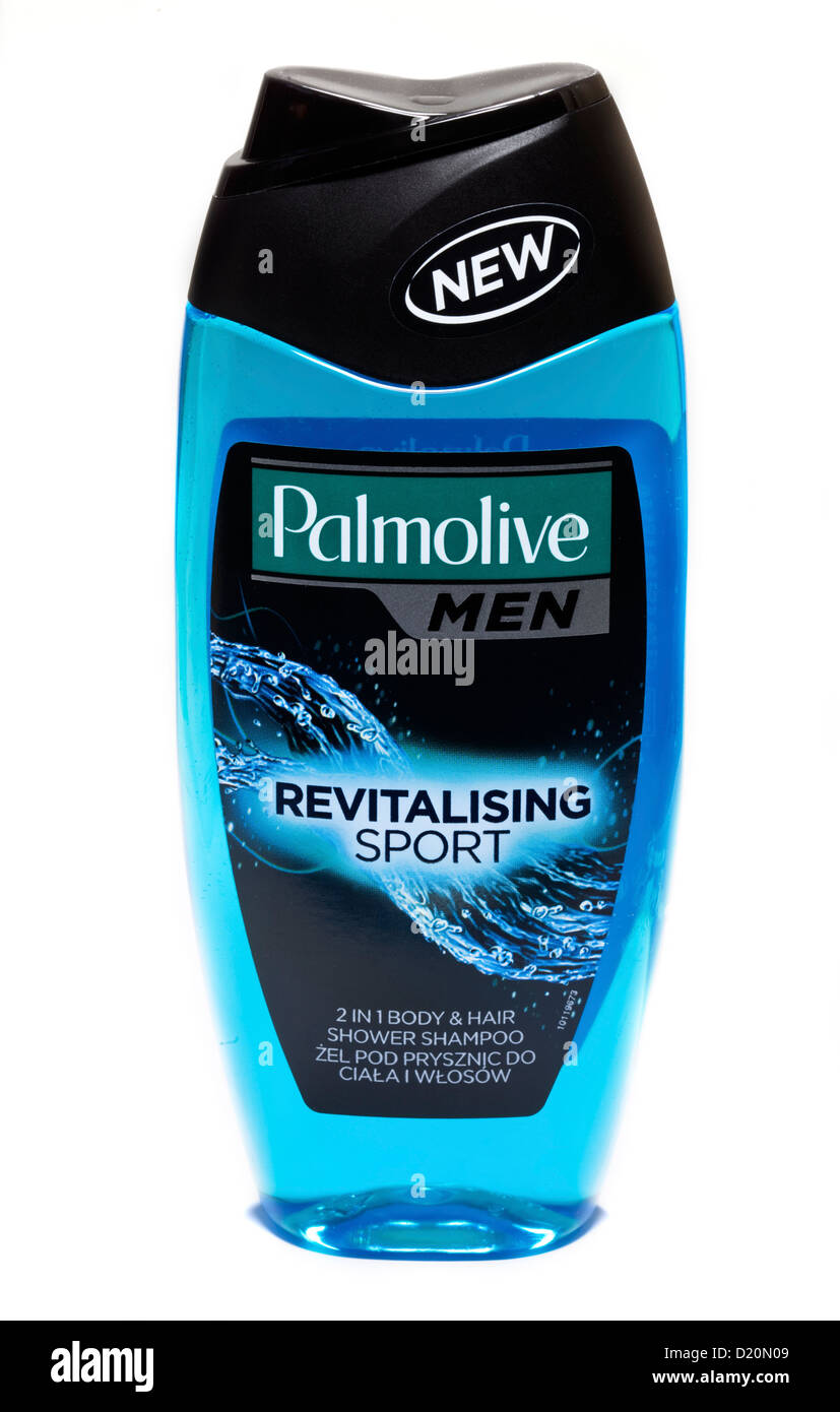 Palmolive Men Sport revitalisant 2 en 1 Corps et Cheveux shampoing douche Photo Stock