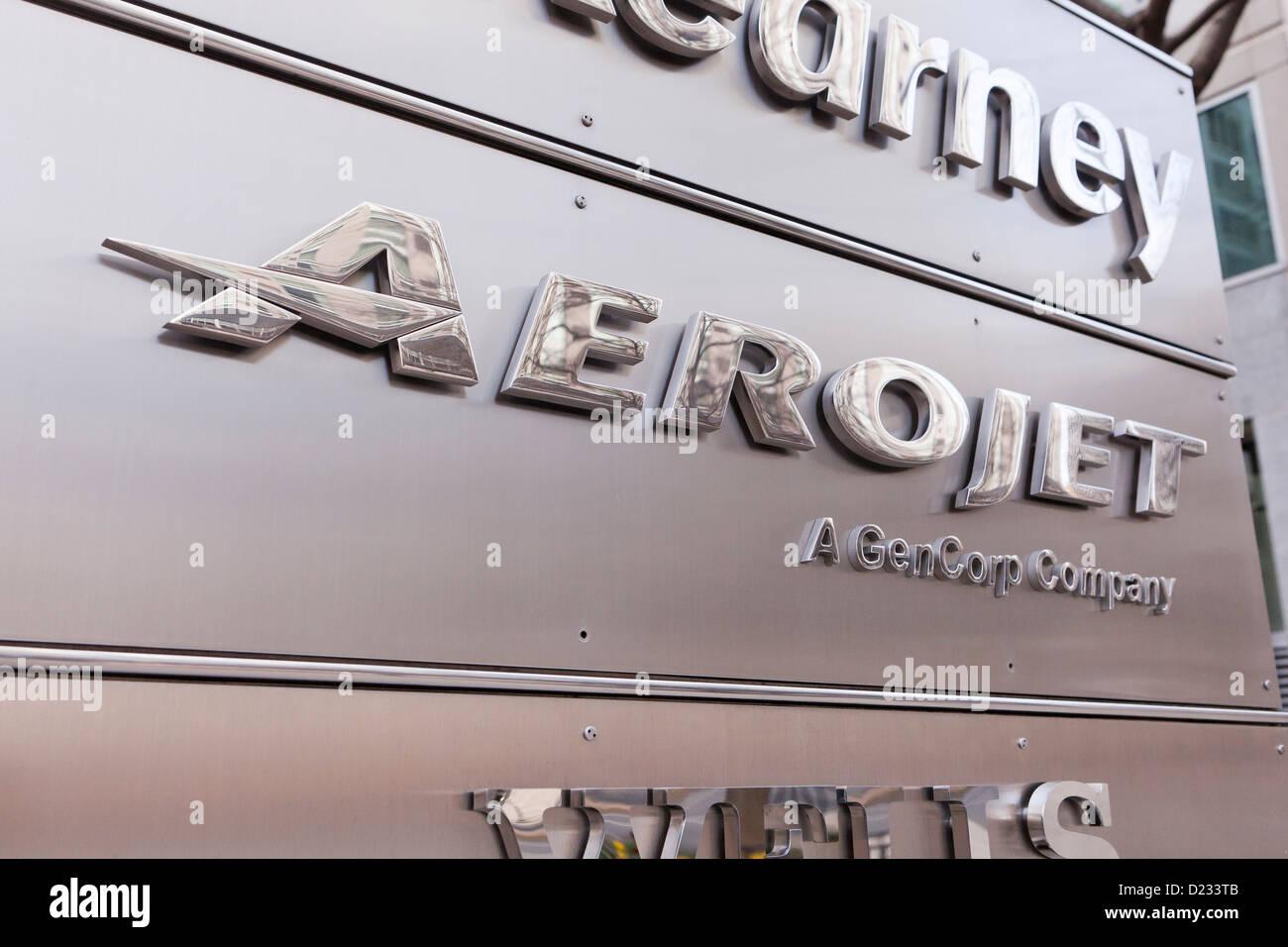 Aerojet logo de l'entreprise Banque D'Images