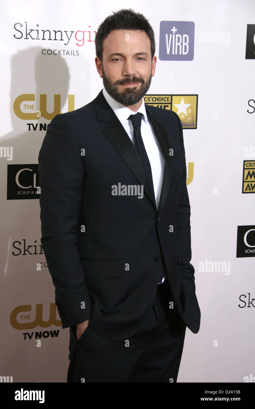 L'acteur Ben Affleck arrive à la 18e Conférence annuelle de Critics' Choice Awards au Barker Hanger Photo Stock