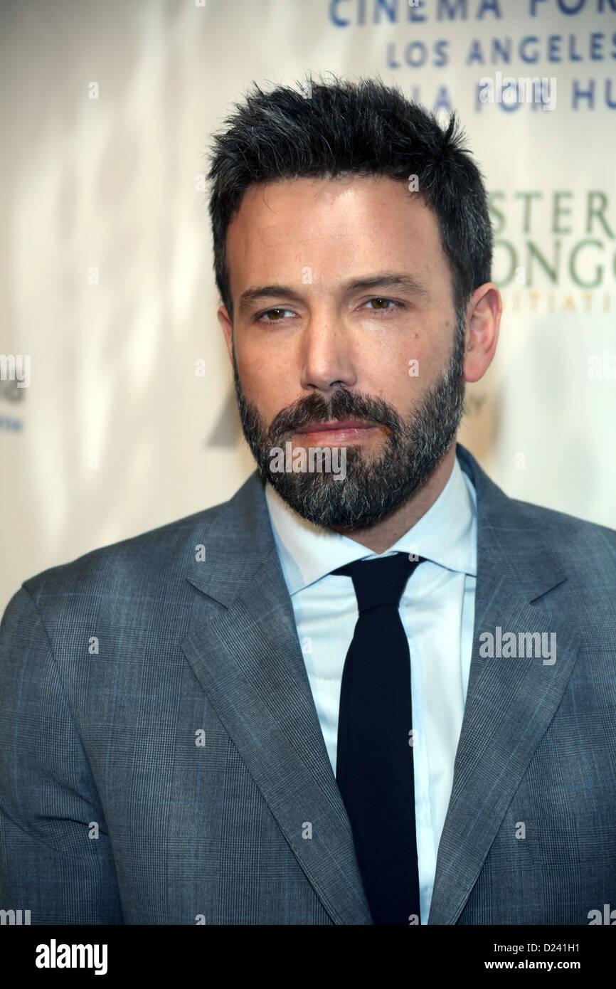 L'acteur et réalisateur Ben Affleck arrive au cinéma pour le Gala de la Fondation pour l'humanité Photo Stock
