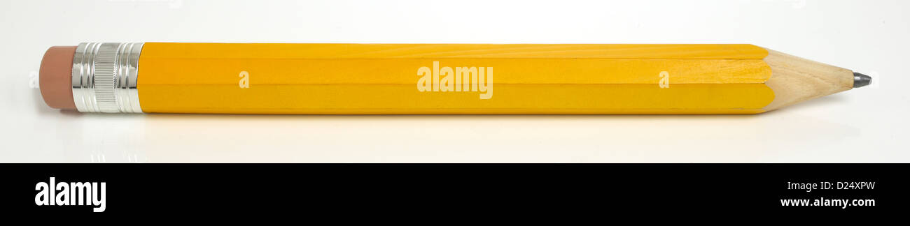 crayon jaune Photo Stock