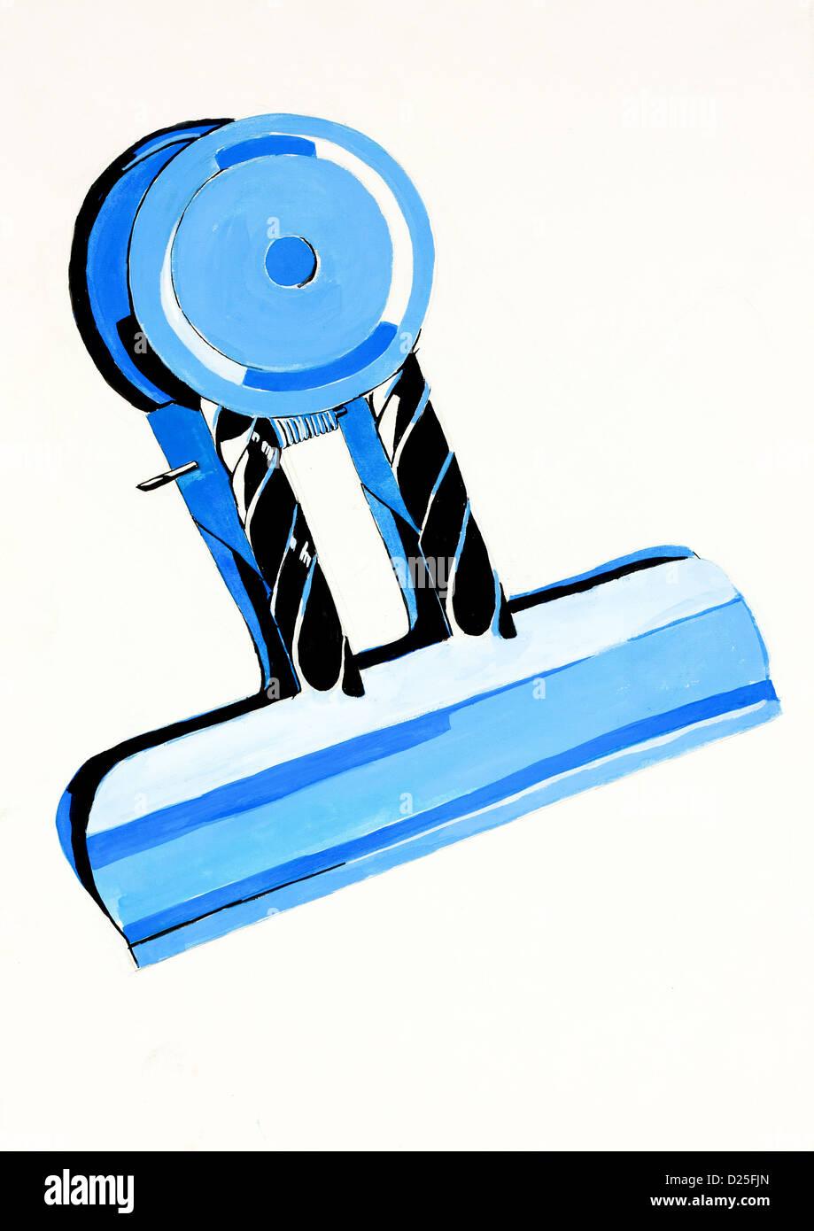 Abrégé Original couleur de l'eau et la peinture à la main ou croquis d'un clip de l'argent Banque D'Images