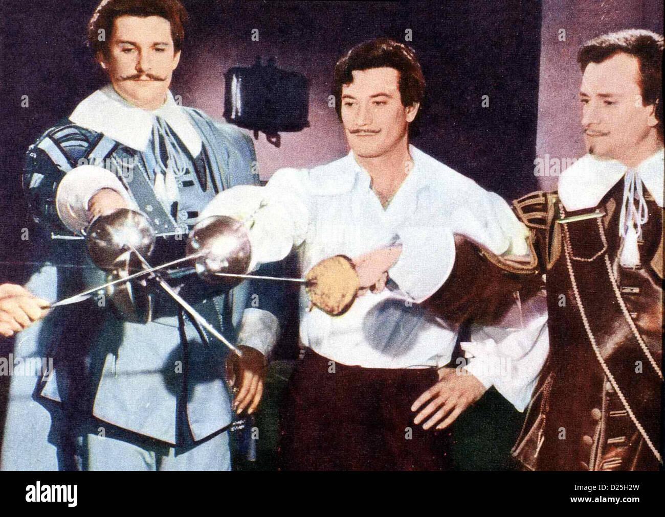les trois mousquetaires avec gerard barray