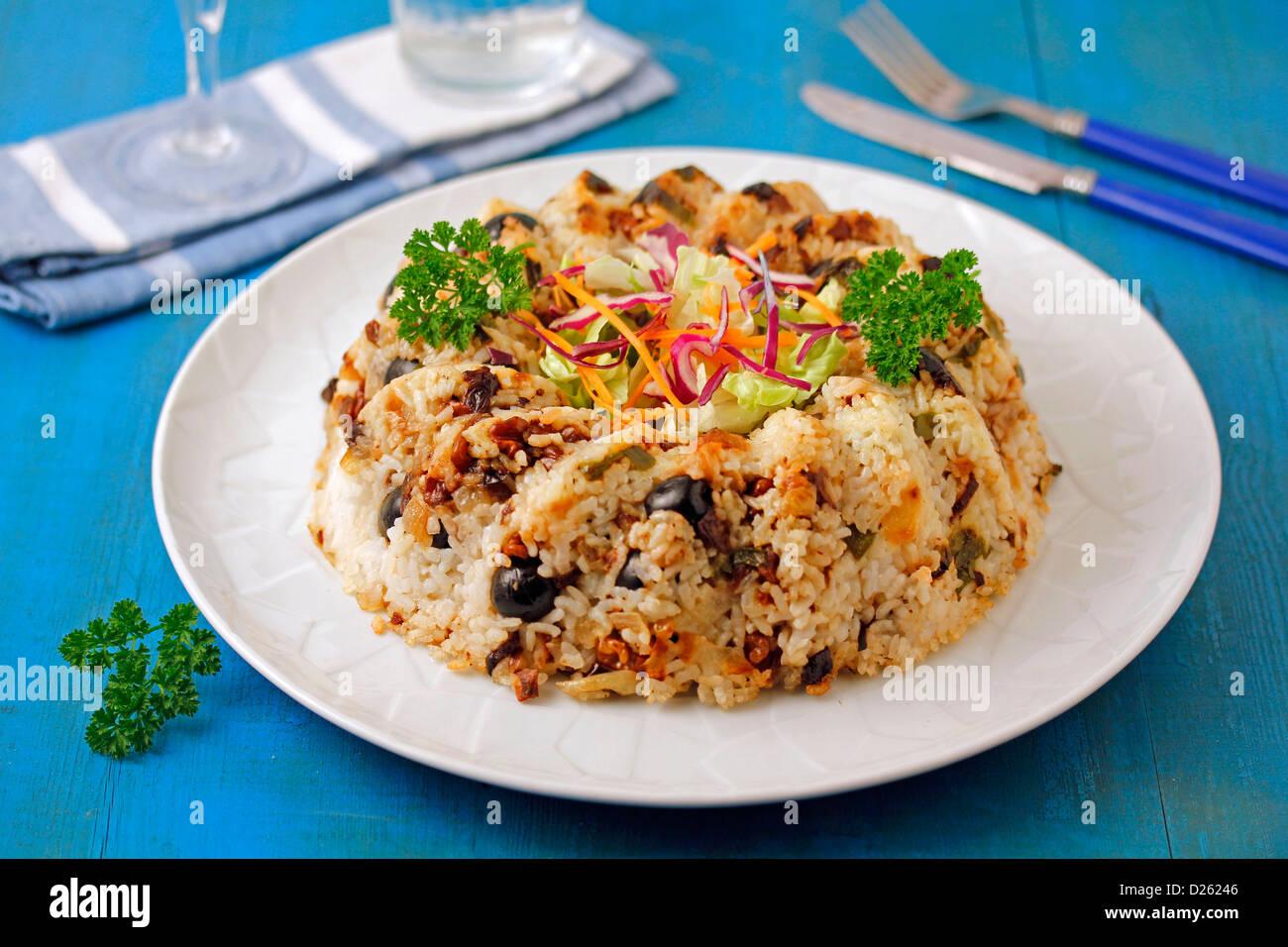 Couronne de riz grecque. Photo Stock