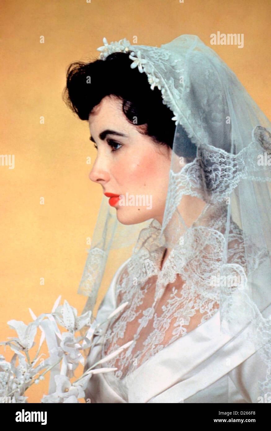 Le père de la mariée 1950 MGM film avec Elizabeth Taylor comme Kay Banks Photo Stock