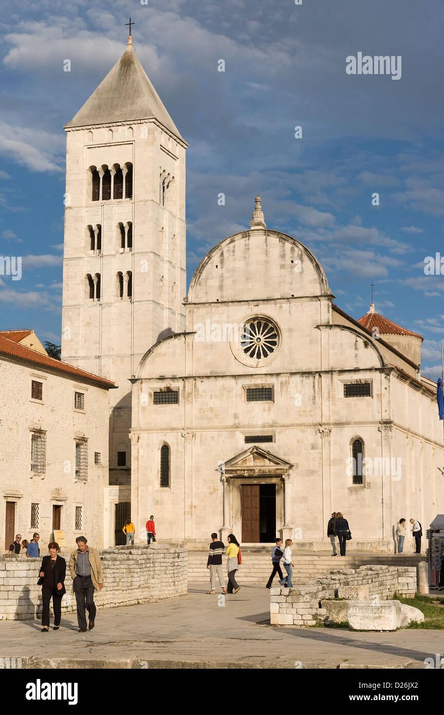 Elk192-2149v, Zadar, Croatie côte dalmate, Musée d'art de l'Église, ancien monastère Photo Stock