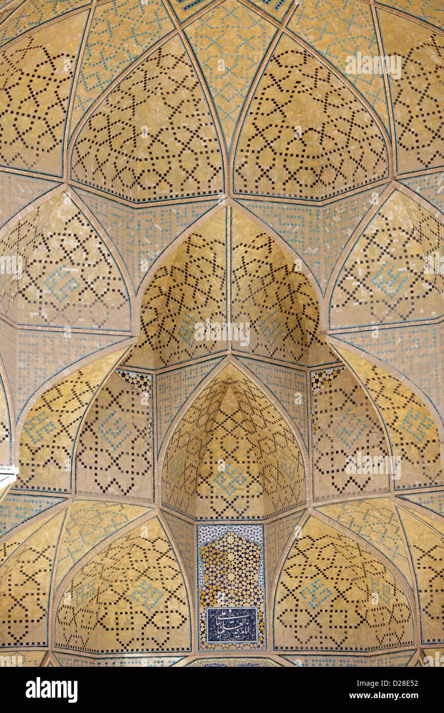 Détail de la mosquée Jameh, Ispahan, Iran Photo Stock