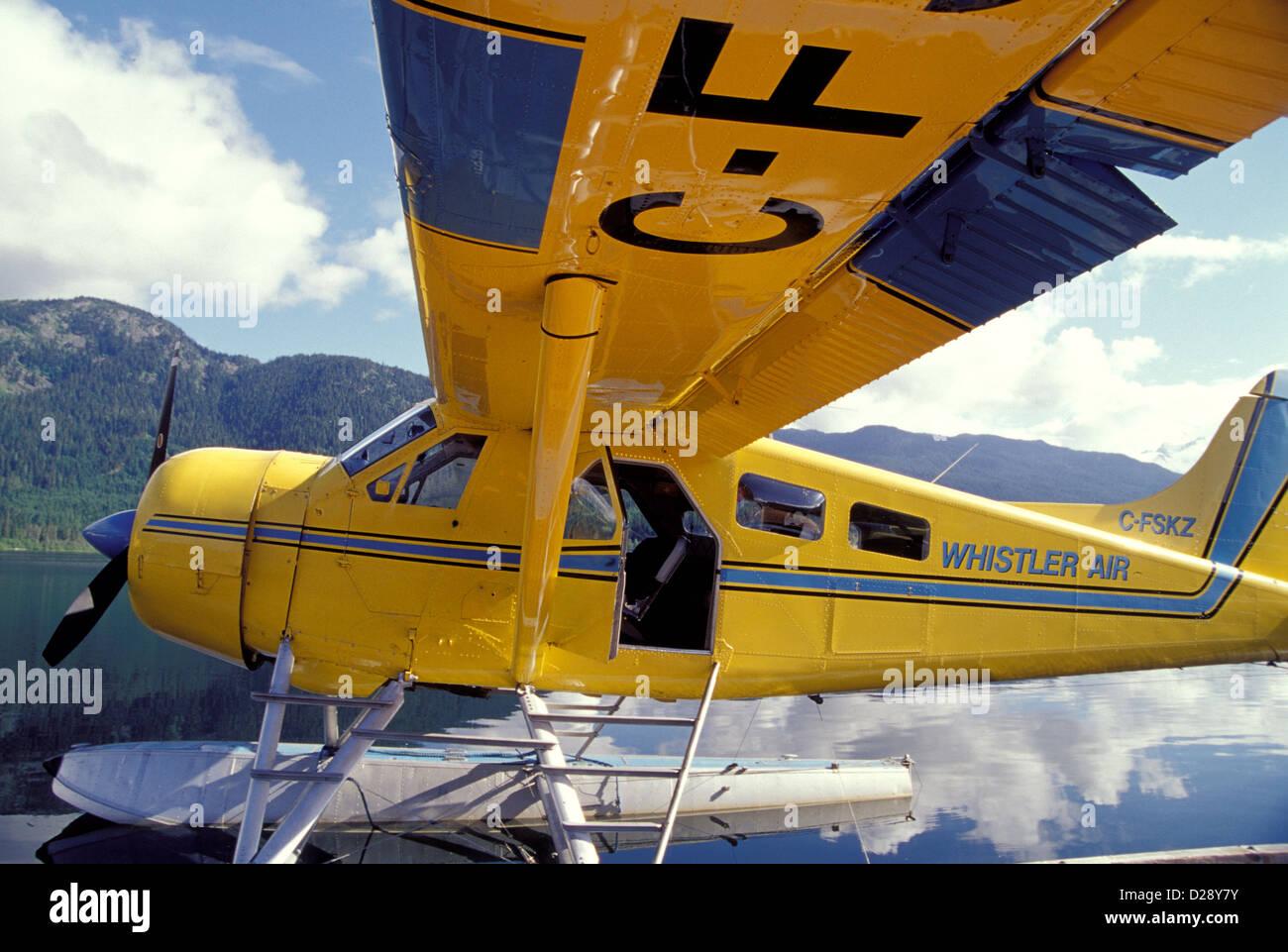 Le Canada, de la Colombie-Britannique, Whistler River Adventures. Hydravion, Green Lake. Photo Stock