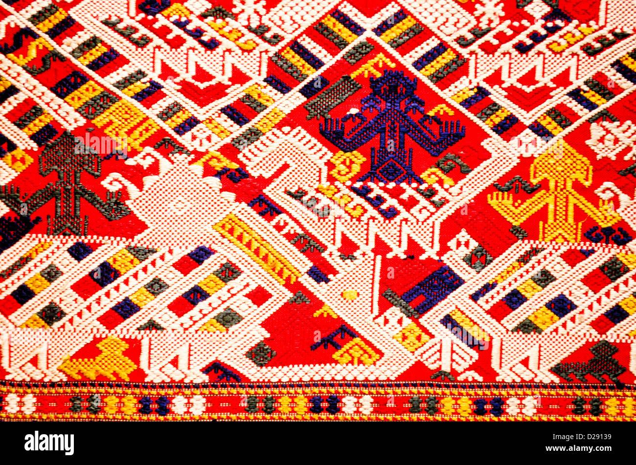 La Thaïlande. Textile. Détail. Photo Stock
