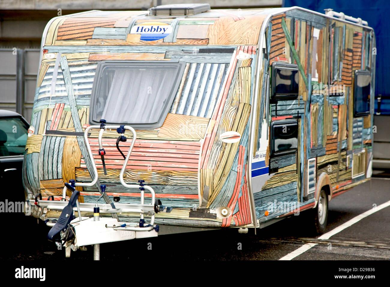 Drôle de caravane décorée Banque D\'Images, Photo Stock: 53066698 - Alamy