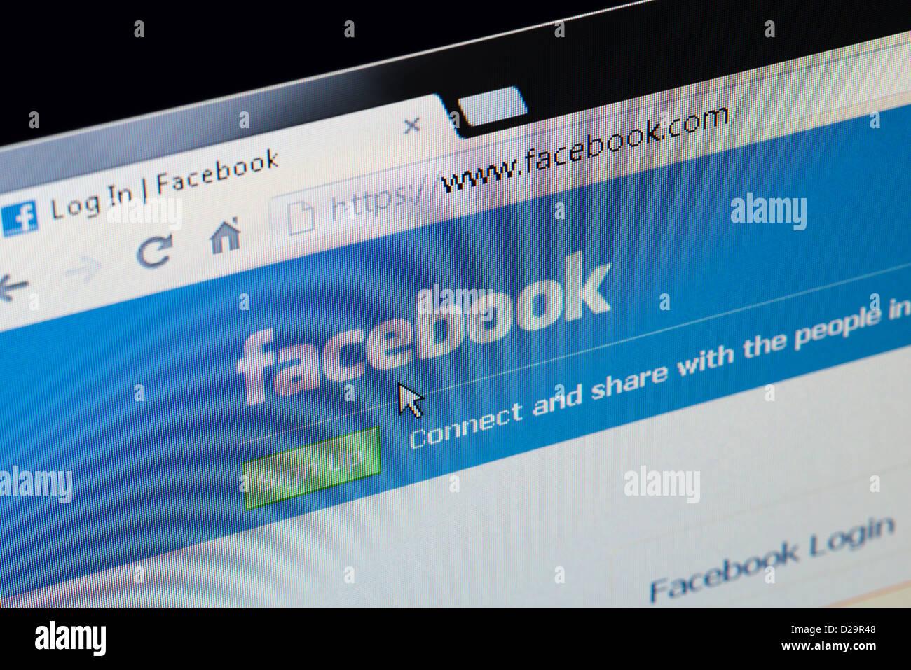 Facebook Sécurisé Se Connecter Et Sinscrire Page Daccueil Banque D