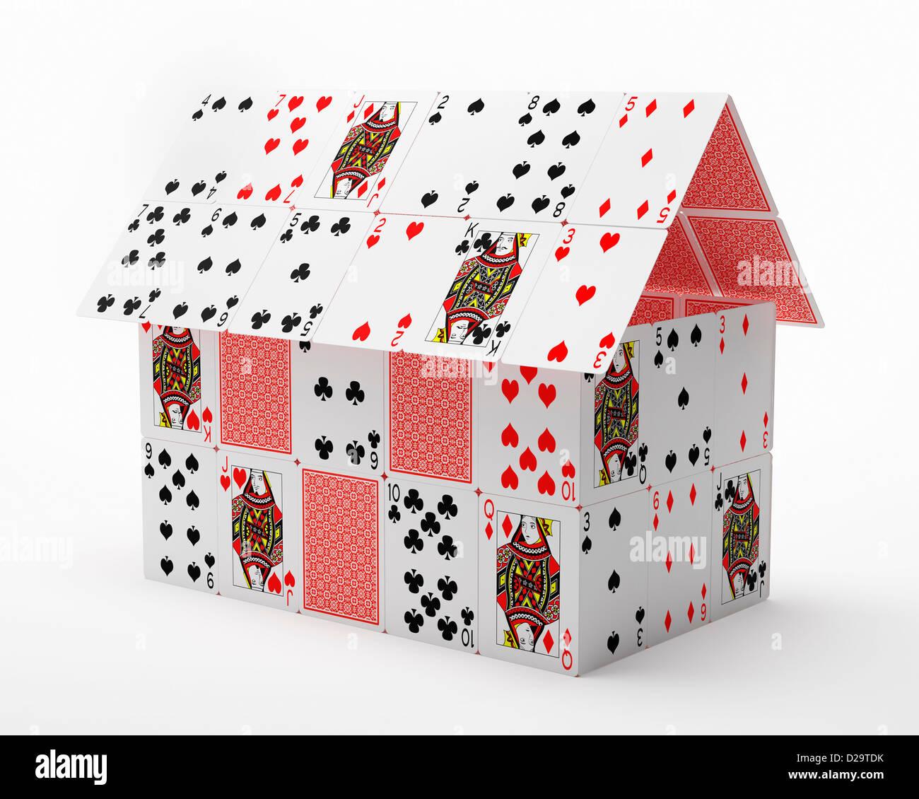 Château de cartes Photo Stock