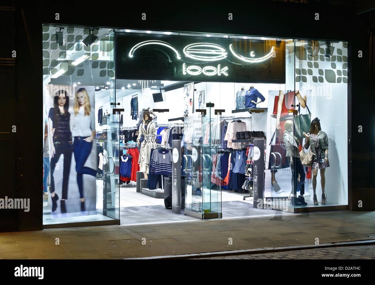 Détaillant de mode new look shop/ Photo Stock