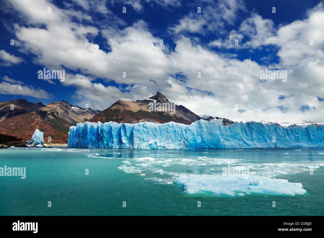 Le glacier Perito Moreno, Lago Argentino, Patagonie, Argentine Photo Stock