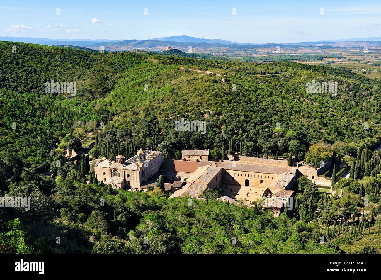 Abbaye de Fontfroide, France. Photo Stock