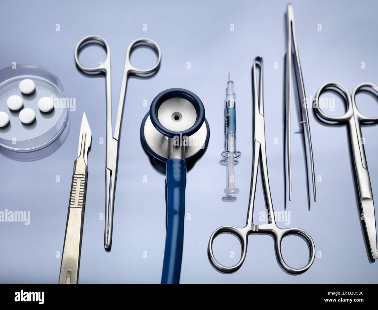 L'équipement médical Photo Stock