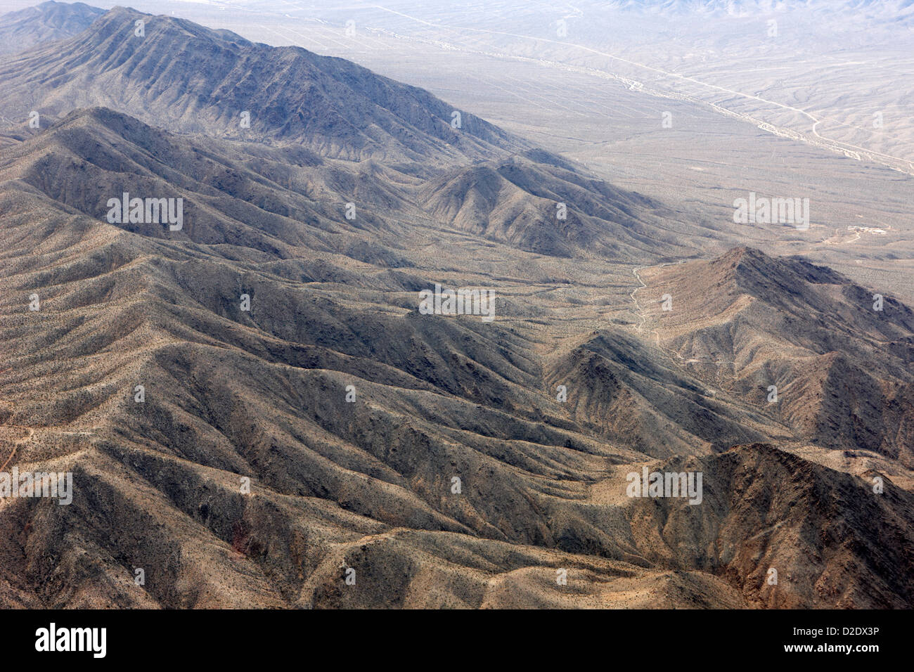 Wheeler ridge mountain ridge fault line désert de Mojave, près de meadview arizona usa Photo Stock