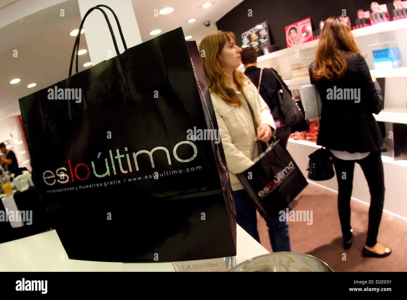 Barcelone, Espagne, où les clients Téléchargement Gratuit esloultimo Photo Stock