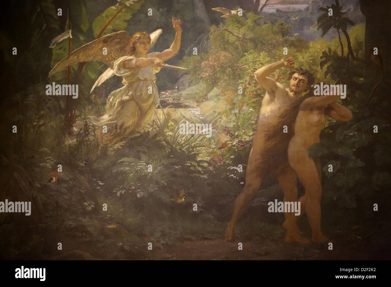 Adam & Eve rejeté par Dieu Paris. La France. Photo Stock