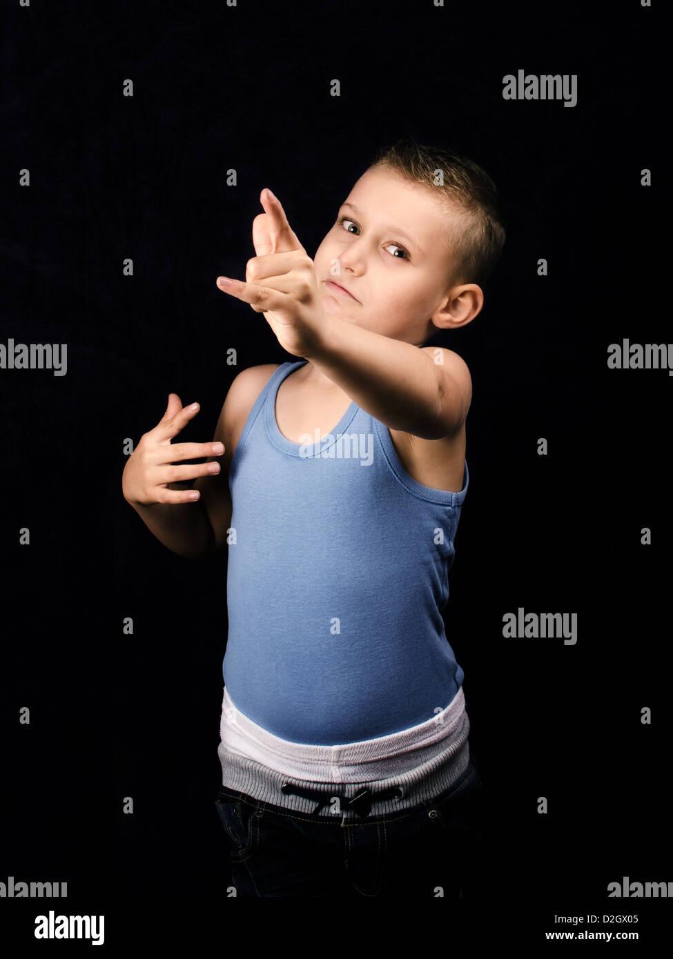 Les jeunes enfants encouragés à exercer Photo Stock