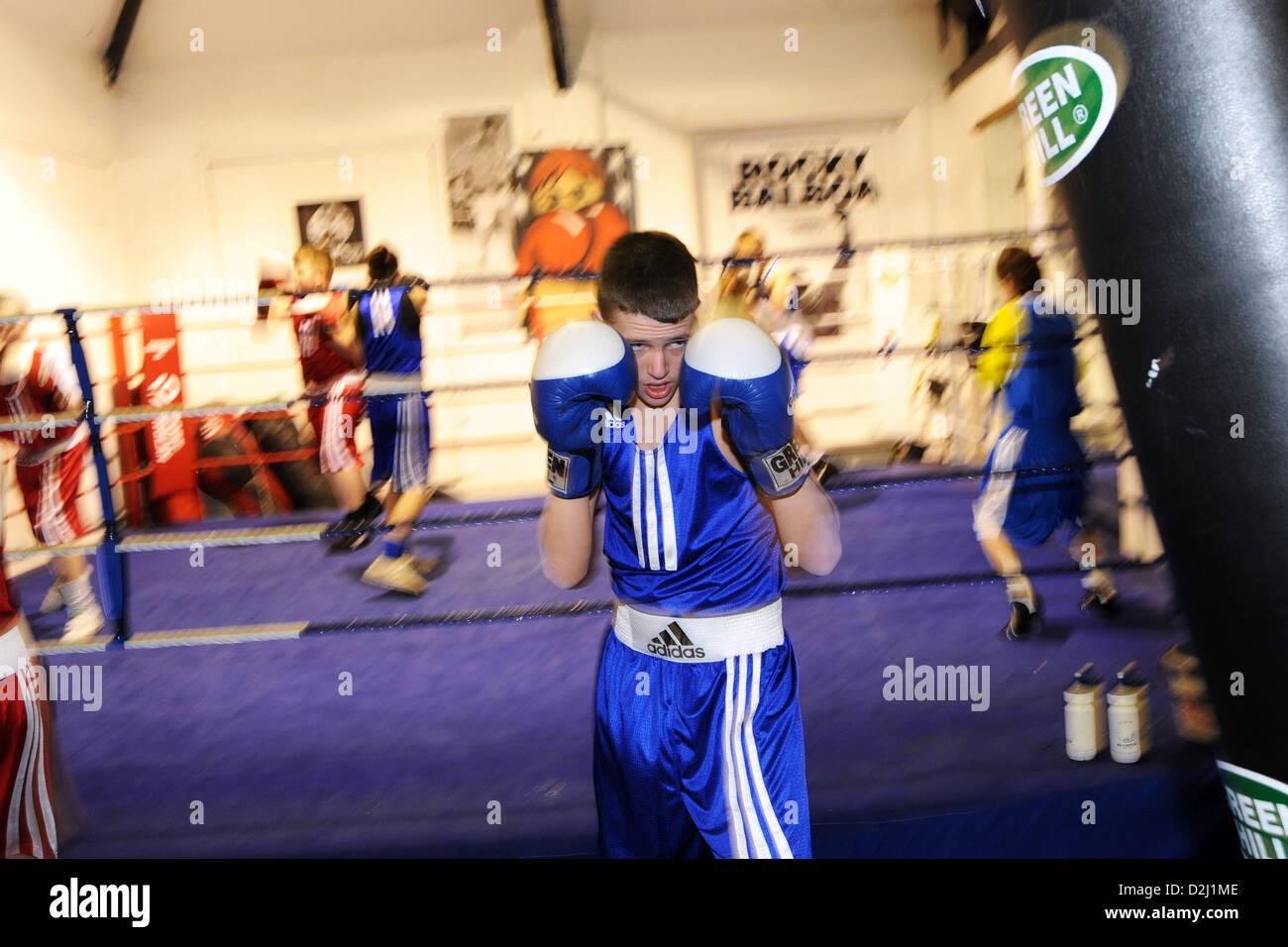 Boxing Club South Yorkshire UK Photo Stock