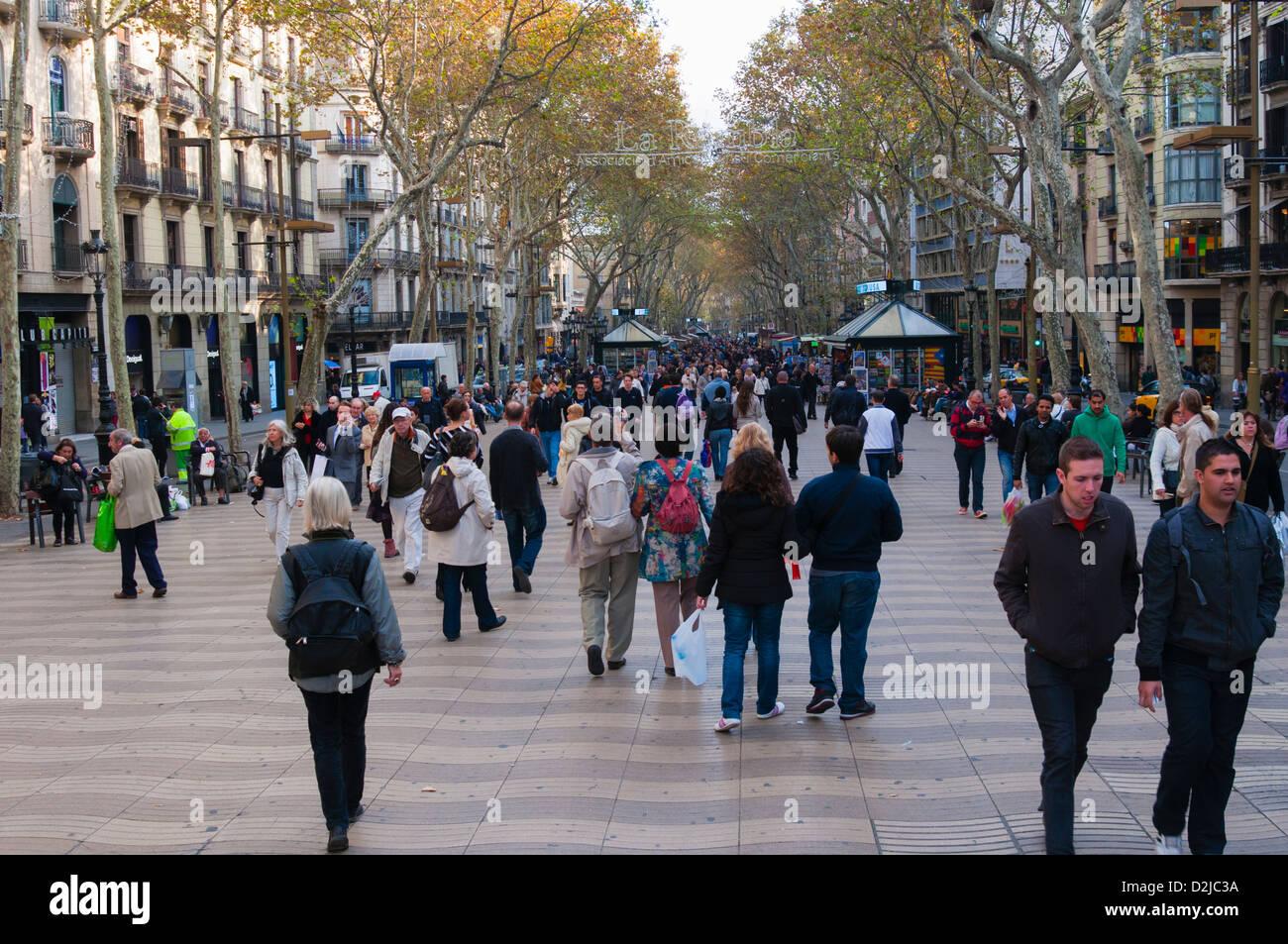 La Rambla, Barcelone, Catalogne (Catalogne) (Catalogne), en Espagne, en Europe Banque D'Images