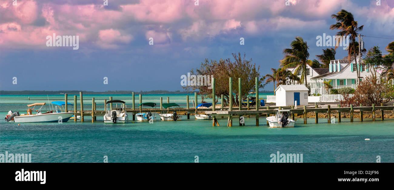 Harbour Island Bahamas, Dunmore Town Photo Stock