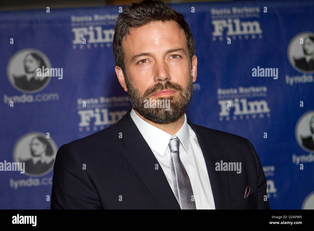 L'acteur et réalisateur Ben Affleck apparaît à la 28e Festival International du Film de Santa Photo Stock