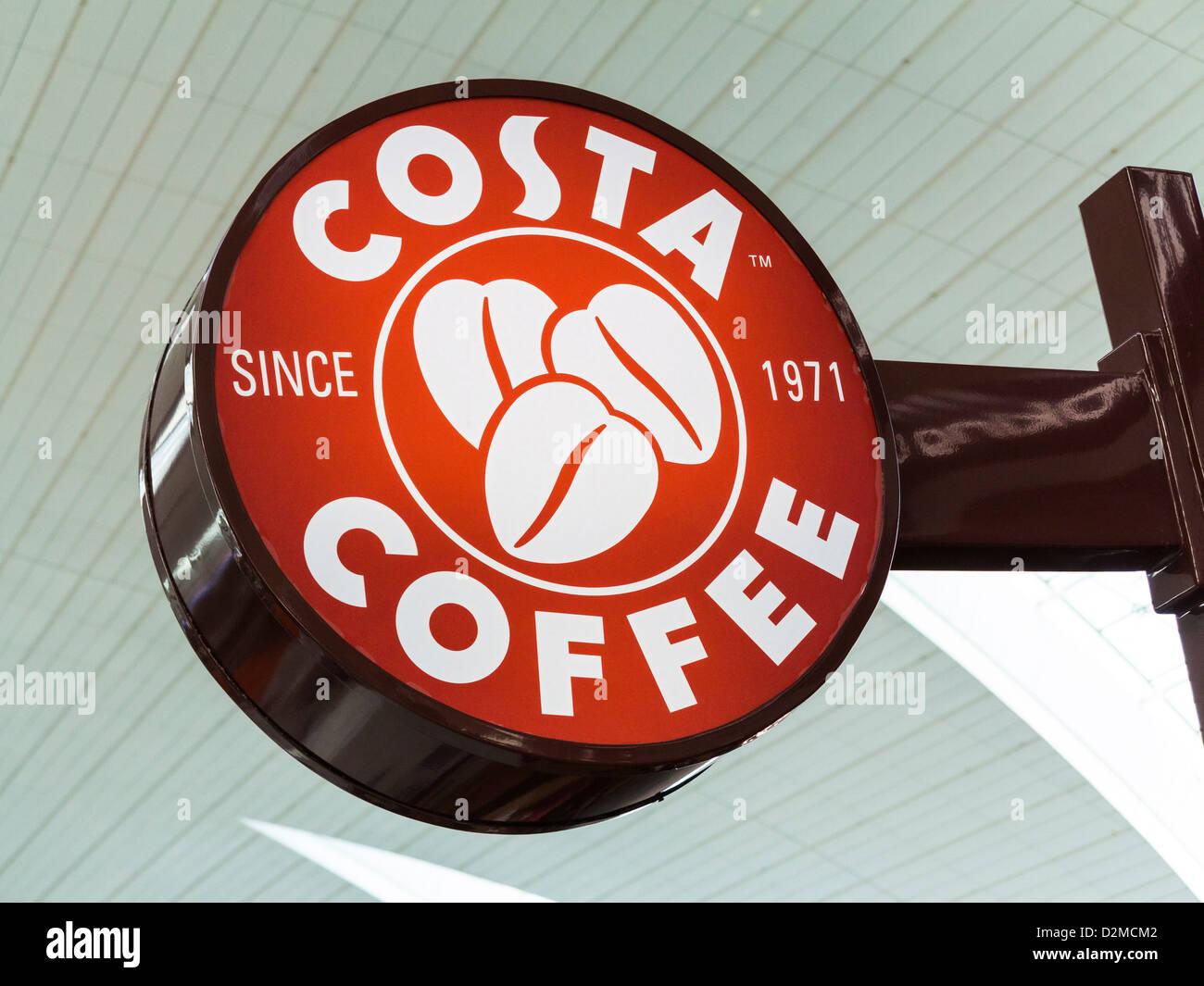 Logo Costa Coffee sign Photo Stock