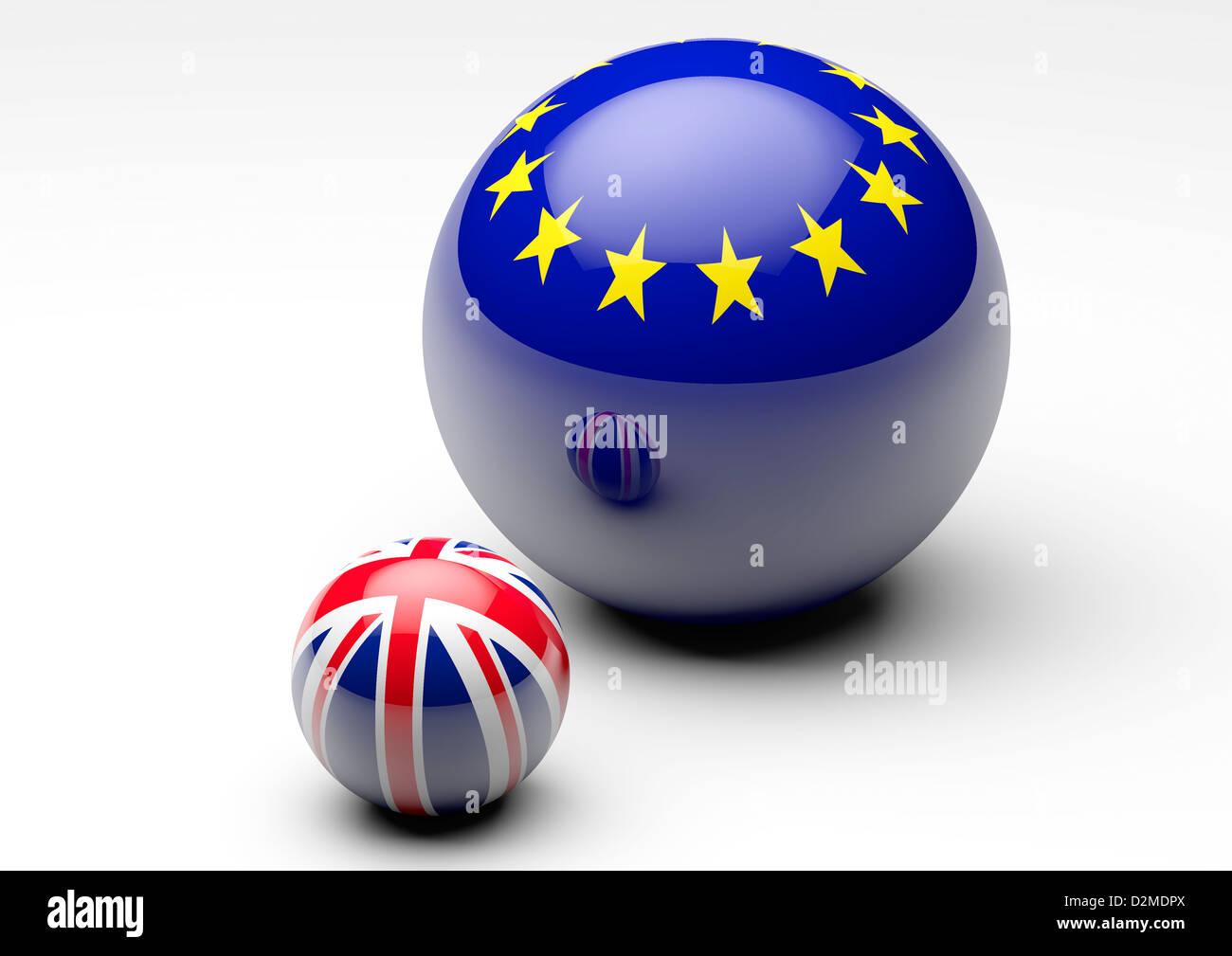 Relations Union européenne / UK - concept Brexit concepts négociations Photo Stock