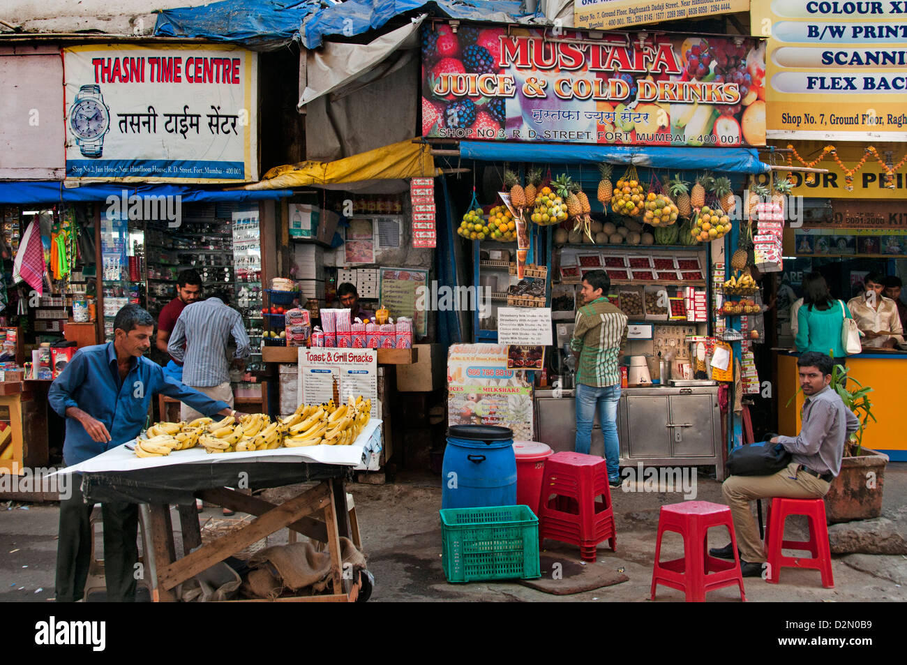 Fort de Mumbai ( Bombay ) India street market Photo Stock